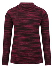 Roll neck space dye jumper