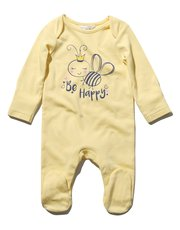 Be happy slogan sleepsuit