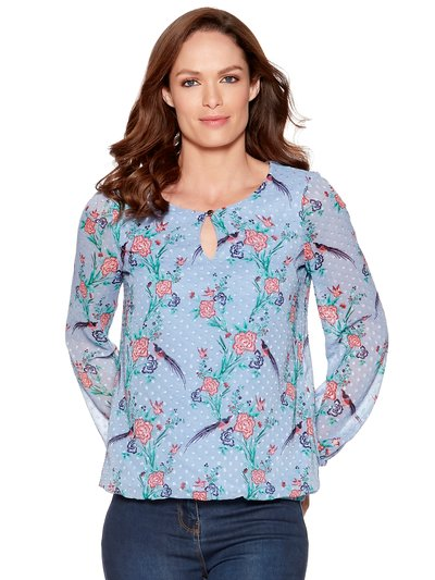 Floral dobby blouse