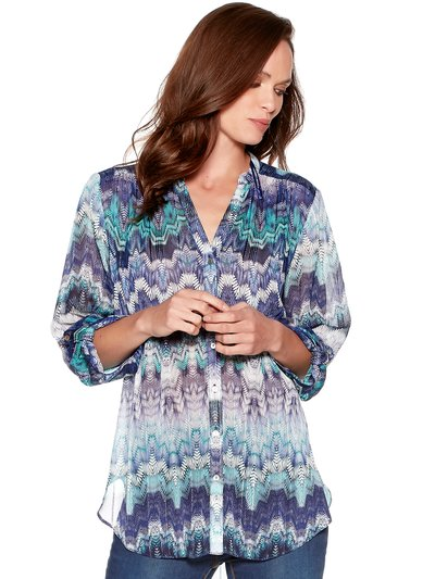 Printed shimmer blouse