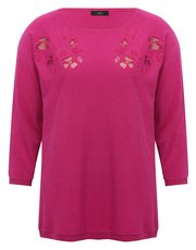 Cut out embroidered jumper