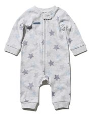 Star print zip through rompersuit