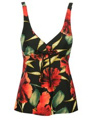 Floral print underwired tankini top