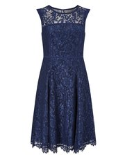 Precis Petite lace and satin prom dress