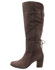 Lourde tassel suede high leg zip boot