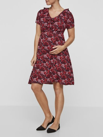 Mamalicious rose print maternity dress