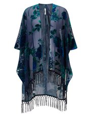 Jacques Vert burn out kimono jacket