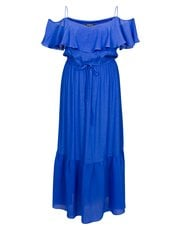 Scarlett and Jo plus frill cold shoulder maxi dress