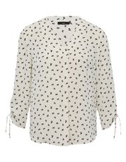 Leaf print tie sleeve shirt