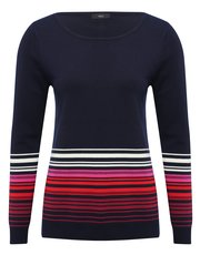 Ombre stripe jumper