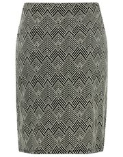 Plus zig zag tube skirt