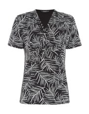 TIGI fern printed knot top