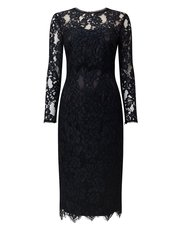 Jacques Vert high neck lace dress
