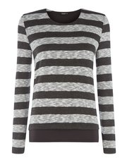 TIGI striped double layer top