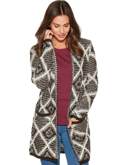 Cardigan diamond jacquard