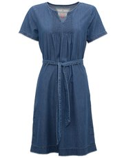 Brakeburn denim tie front dress