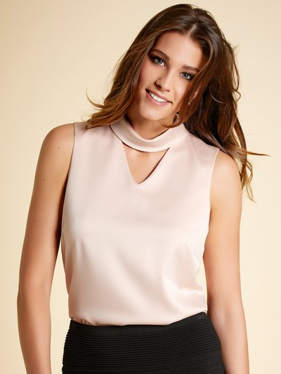 Satin choker top