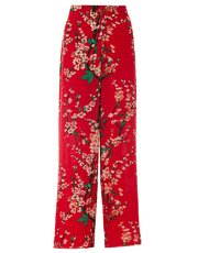 Quiz crepe floral print palazzo trousers