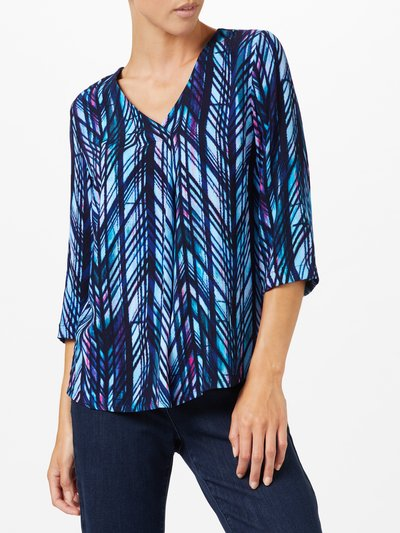 Dash jungle blues blouse
