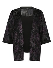 Plus floral burn out kimono top