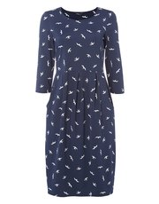 Roman Originals bird print pocket dress