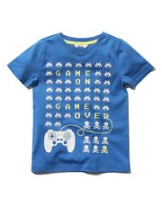 Game on print t-shirt
