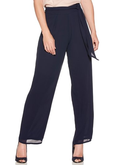 Wide leg tie front trousers