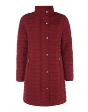 TIGI long sleeve quilted coat