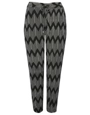 Zig zag cropped jogger trousers