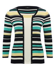 Two in one stripe cardigan top