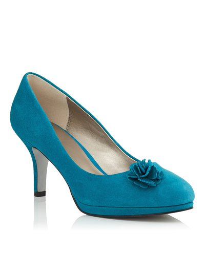 Jacques Vert suede ruffle trim shoes