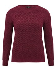 Petite textured boucle jumper