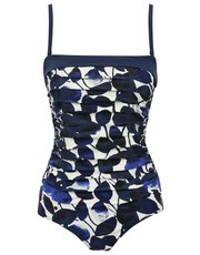 Floral leaf print tummy control multiway swimsuit