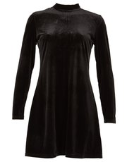 Izabel velour swing dress