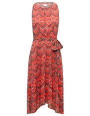 Butterfly tie front fit and flare dress