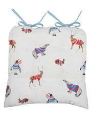 Animals in jumpers seatpad cushion