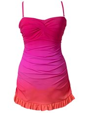 Beachcomber ombre twist front swimdress