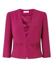 Jacques Vert Pandora crepe and lace jacket