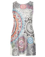 Izabel mosaic print swing dress
