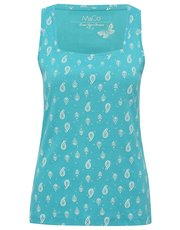 Paisley print square neck vest top