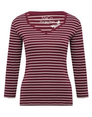 Stripe diamond neck t-shirt