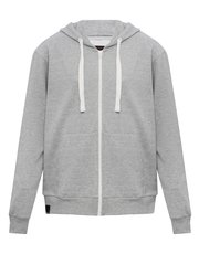 Zip front hooded sweat top