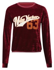 Teens' New Yorker 63 velour sweat top