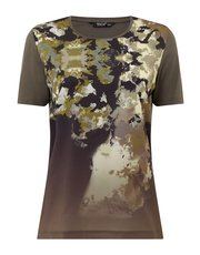 TIGI round neck printed front top
