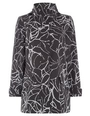 TIGI water resistant printed coat