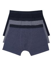 Stripe and star print trunks three pack