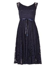 Izabel lace overlay midi dress