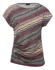 Ruched stripe t-shirt