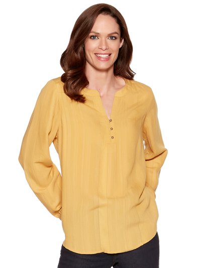 Yellow dobby blouse