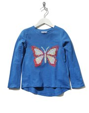 Two way sequin butterfly top